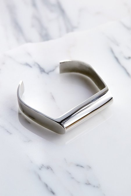 Quarry Mierle Cuff in White Bronze