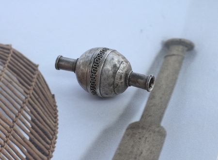 Vintage Alchemy Works Trading Bead - Solid Silver