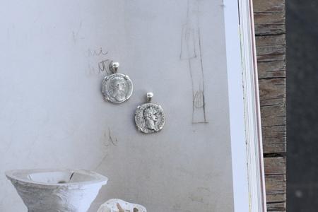 Vintage Alchemy Works Cesarean Coin Pendant - Silver
