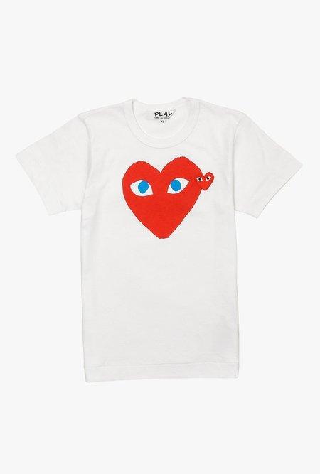 Comme des Garçons Double Heart T-Shirt - WHITE