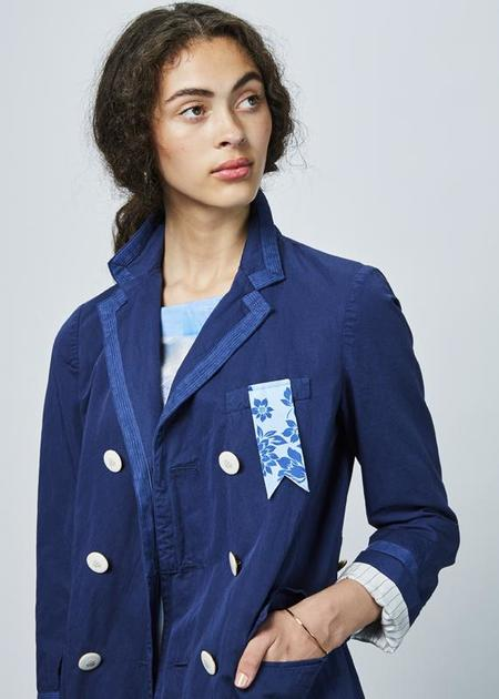The Gigi Blanca Overcoat - Washed Navy