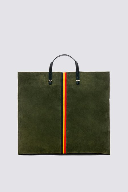 Clare V. Suede Simple Tote - Army