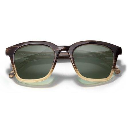 Unisex Sunski Moraga Sunglasses - Stripe Tortoise/Forest