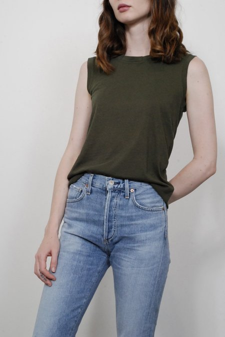Nili Lotan Muscle Tee - Army Green