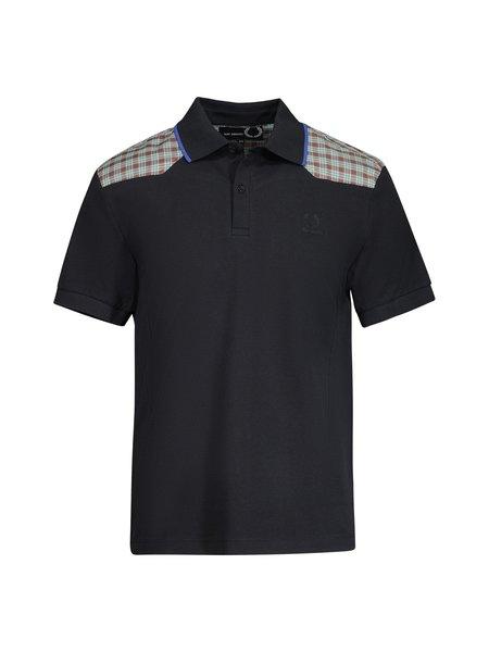Raf Simons X Fred Perry Check Shoulder Pique Shirt