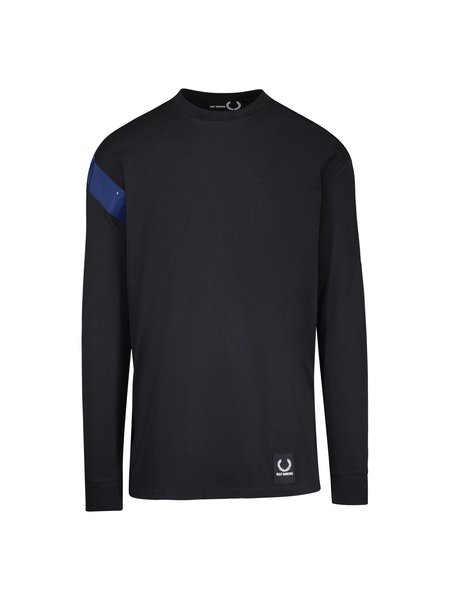 Raf Simons X Fred Perry Long Sleeve Tape Detail T-Shirt