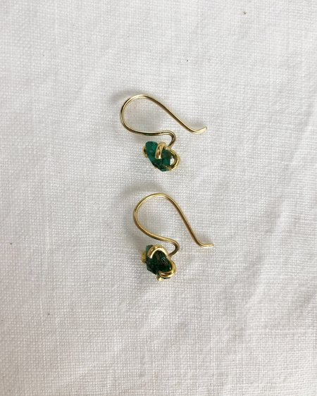 Variance Zambian Hook Earrings - Emerald