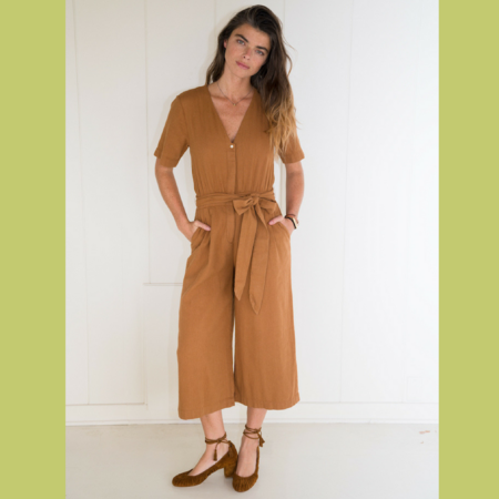 Birds of Paradis BELLA JUMPSUIT - GOLDEN BROWN