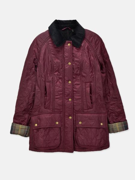 Barbour Beadnell Polarquilt Jacket - Aubergine/Black