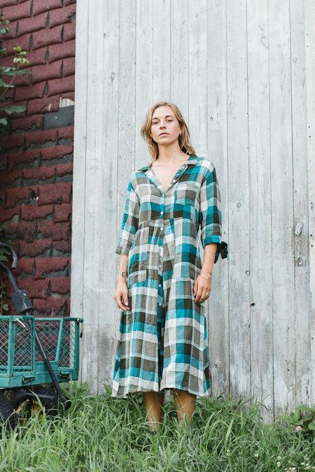 CONRADO Morgan Shirt Dress - Green Plaid