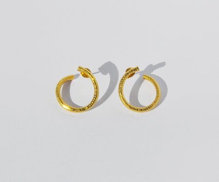 Brigitta Salt Spiral Earrings - Gold