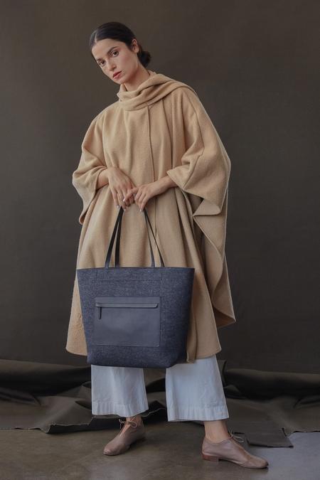 Graf Lantz + Eileen Fisher Pocket Tote - Charcoal