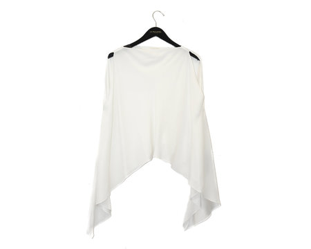 KES Wave Boatneck Top - WHITE