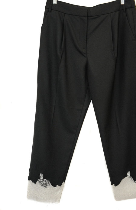 Tibi Lou Lou Applique Trousers - BLACK