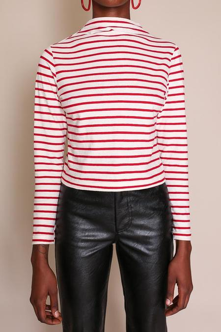 Elise Ballegeer Mock Top - Red Stripe