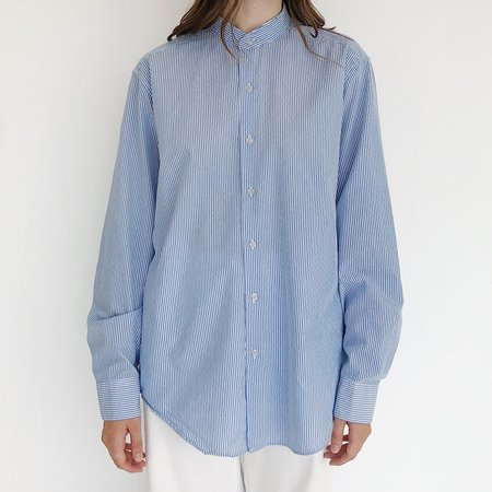 Johan Vintage Multi Striped Button Down Shirt - Blue