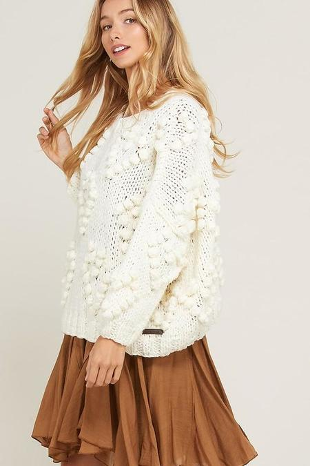 Wishlist Heart and Soul Handmade Sweater - Cream