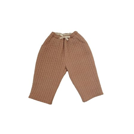 KIDS Tambere Quilted Trousers - Peach Beige