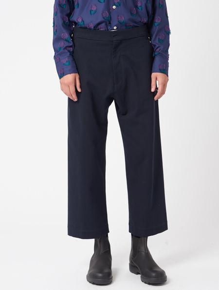 Studio Nicholson Suede head Pants - Navy