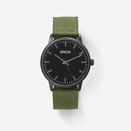 Breda Valor Watch - Gunmetal/Green