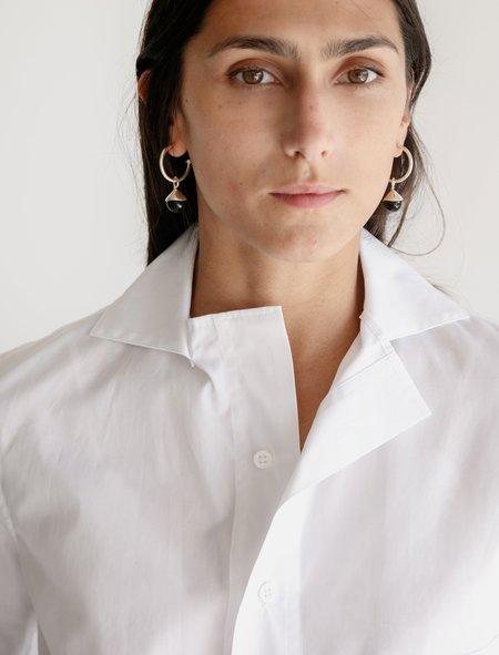 Ys by Yohji Yamamoto Layered Collar Shirt - White