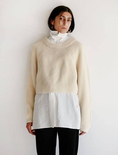 Lemaire Round Sweater - Cream