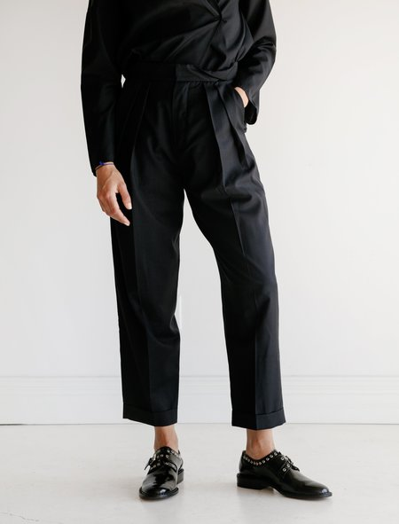 Studio Nicholson Twist Waistband Trousers - Navy
