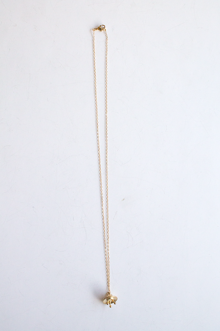 Sheila B Space Ship Necklace - Gold