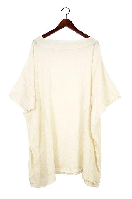 Uzi NYC Cream Gauze Box Dress