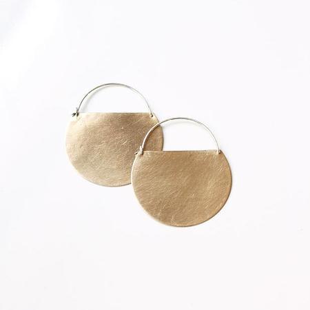 Earthen Vessel Mesa Hoop Earrings - Brass