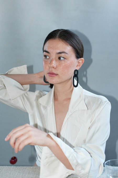 Eny Lee Parker Camila Earrings - Terracotta