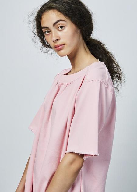 AVN Short Sleeve Twill Dress - PINK