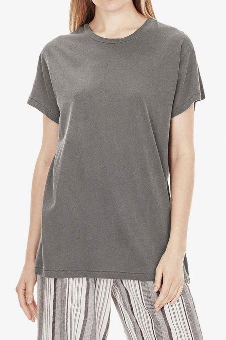 Commoners Overdyed Linen Short Sleeve Tee - Ash