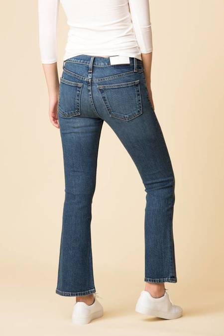 Re/Done Midrise Kick Flare Crop Jean - Mid 70s