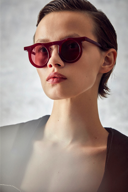 CARLA COLOUR LIND sunglasses - BLOOD/GLAZER