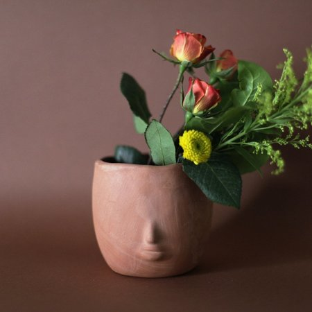 Rami Kim Raw Terracotta Face Pot