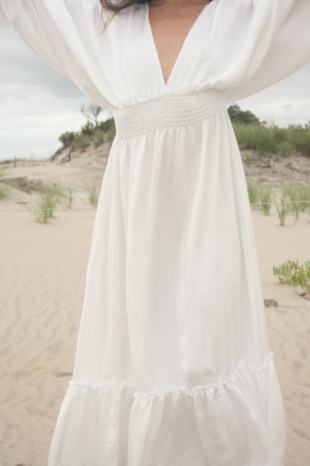 MISA Valencia Dress - White