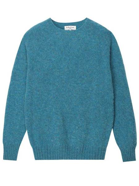 YMC Brushed Crew - Blue