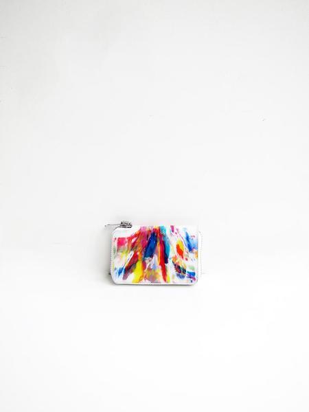 Macromauro Paint Wallet - White Multi