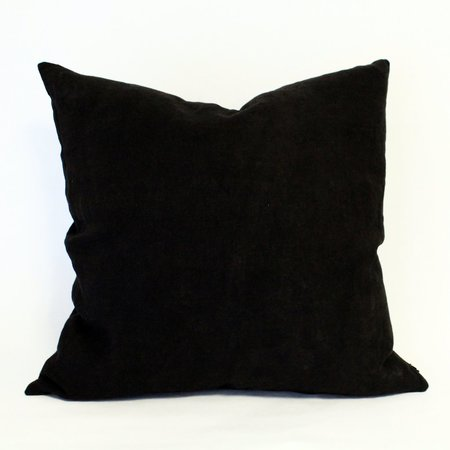 Anara Sable Linen Pillow - BLACK