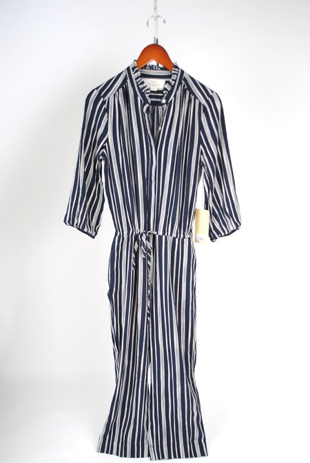 Birds of Paradis The Ingrid Jumpsuit - Navy Stripe