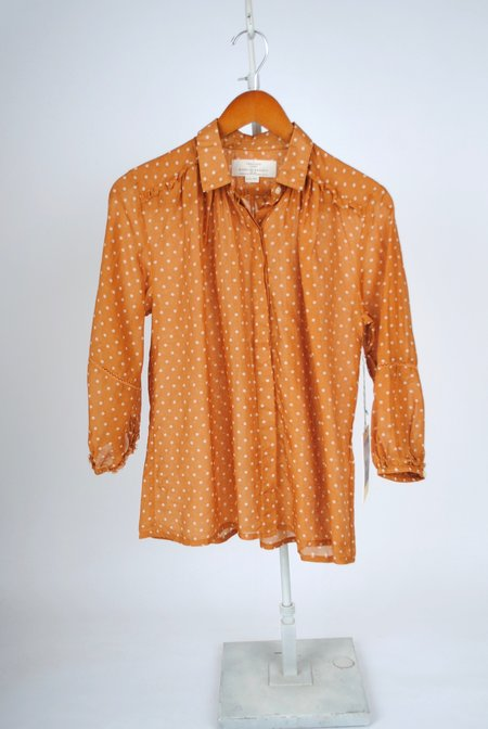 Birds of Paradis The Nadia Blouse - Tobacco Dot