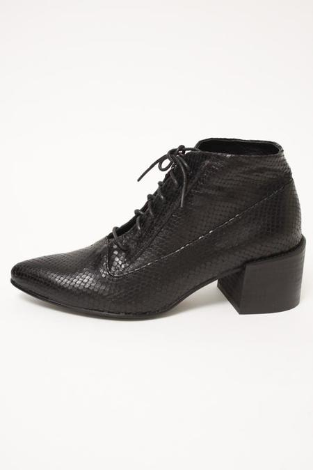 LAX ANDRE LACE UP BOOT - BLACK SNAKE