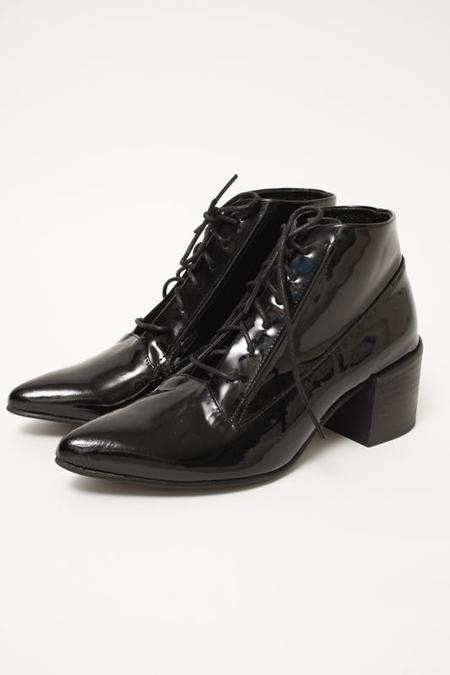 LAX ANDRE LACE UP BOOT - BLACK