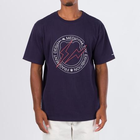 Medicom Toy Medicom X Fragment Design Be@R T-Shirt - Navy