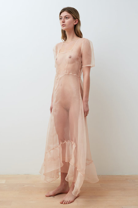 Collina Strada Disnee Organza Dress - Sand