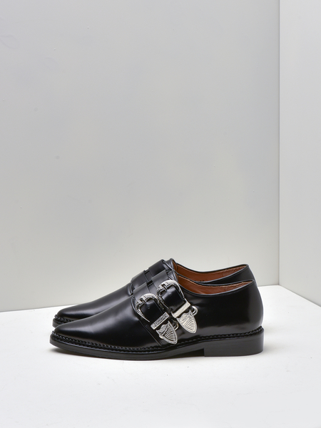 Toga Pulla Two Buckled Loafer - BLACK POLIDO