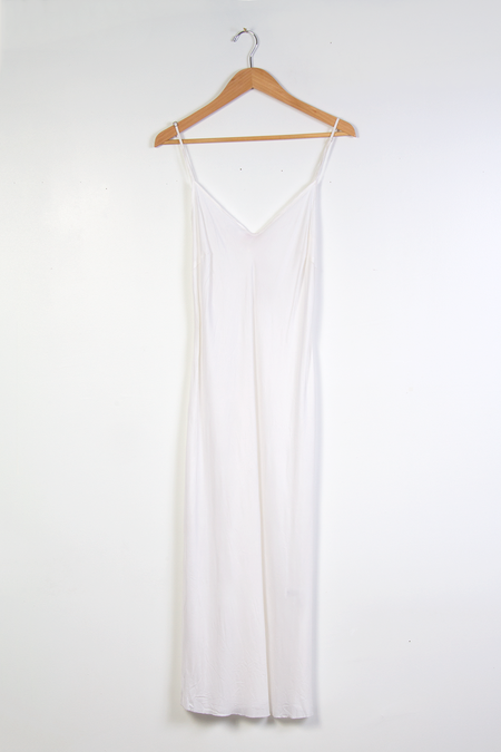 Organic by John Patrick Long Slip DRESS - CREAM