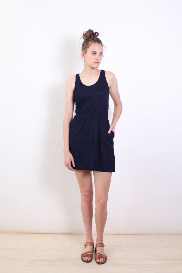 Bridge & Burn Fleer Indigo Dye Knit Dress