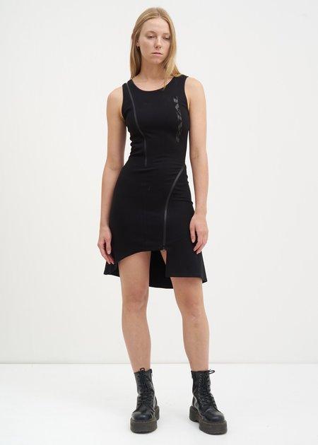 Hyein Seo Zippered Jersey Dress - Black